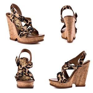 53c59037821ad1 Sam Edelman Shoes - Sam Edelman Josie Leopard cork wedges 8.5